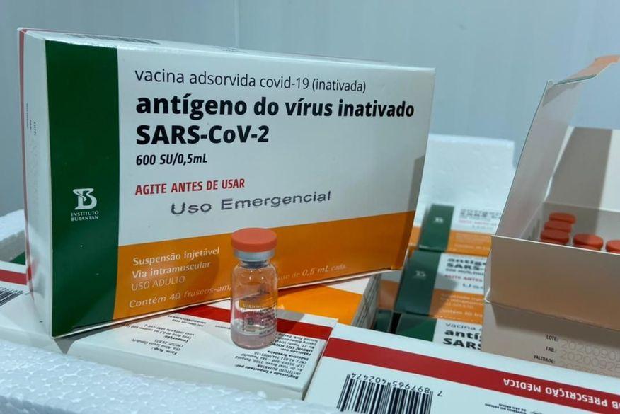 Paraíba vai receber quase 92 mil doses da vacina da Coronavac nesta quarta-feira